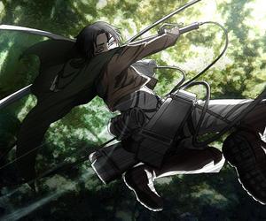 rivaille, shingeki no kyojin, and anime image