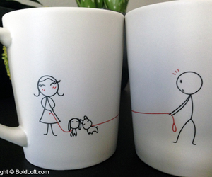 coffee mugs, couple love, and valentines day gifts image