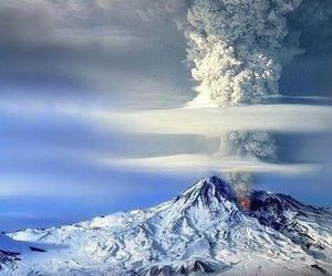 volcano, mountains, and nature image