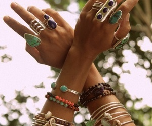 bracelet, rings, and style image