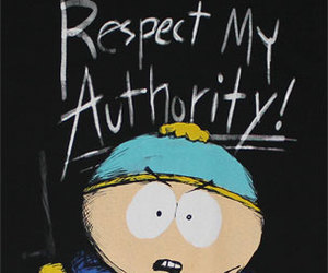 eric cartman, South park, and respect my authority image