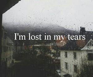 sad, tears, and lost image