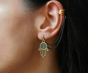 style, earrings, and jewelry image