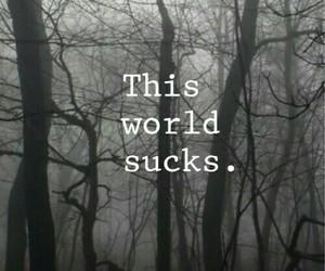 world, sad, and sucks image