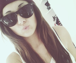 beanie, brunette, and fabulous image