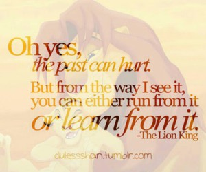 quote, past, and lion king image