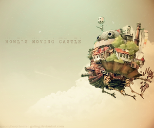 castle, moving, and howls image
