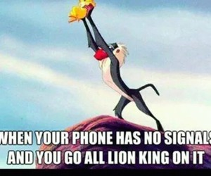 lion king, phone, and signal image