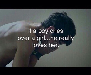 boy, girl, and tear image