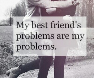 best friends, black and white, and problems image