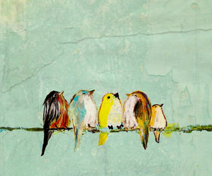 art, birds, and illustrations image