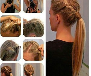 diy, hair, and tutorial image