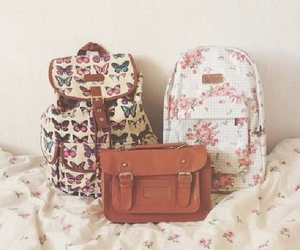bag, flowers, and butterfly image
