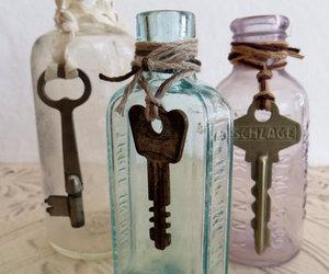antique, bottle, and vintage image