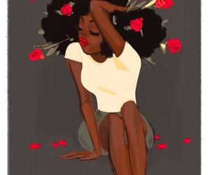 rose, art, and black image