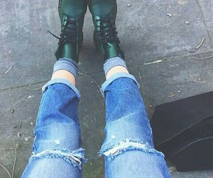 doc martens, docs, and jeans image