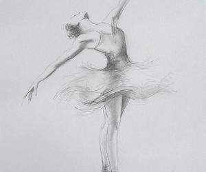 art, pencil, and ballerina image
