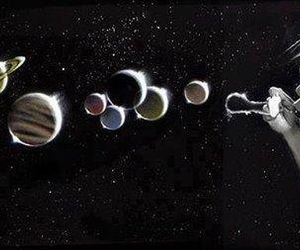 planet, bubbles, and universe image