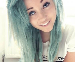beautiful, smile, and blue image