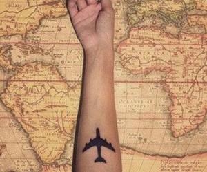 travel, world, and tattoo image