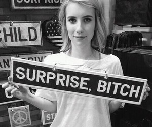 emma roberts, bitch, and surprise image