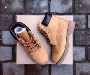 shoes, timberland, and fashion image