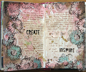art journal, creative, and diary image