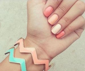 cream, nail polish, and nails image