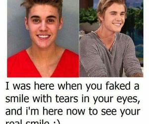 smile, justin bieber, and beliebers image