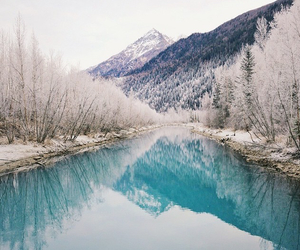 mountains, nature, and winter image