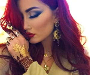 gorgeous, henna, and kurdish image