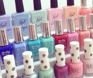 colors, nail polish, and beautiful image