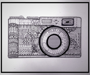 black and white, camera, and picture image