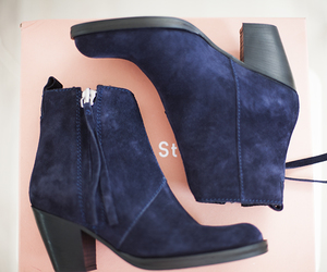 acne, blue, and heels image
