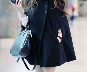 fashion, coat, and black image