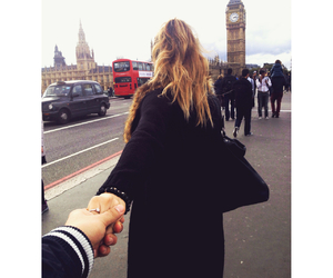 couple, london, and travel image