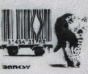 art and BANKSY image