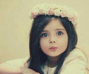 cute, flowers, and child image