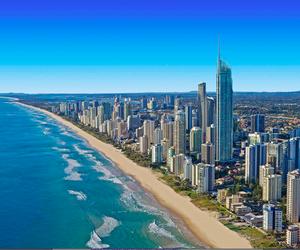 australia, beach, and sea image