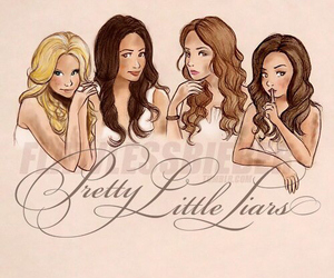 pretty little liars, pll, and drawing image