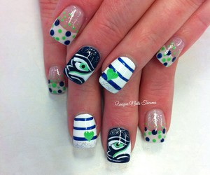 dots, manicure, and heart image