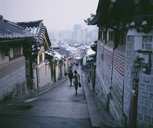 street, city, and korea image