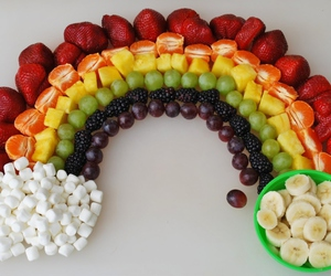 fruit, food, and rainbow image