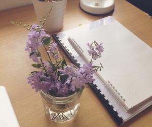 beauty, flowers, and purple image
