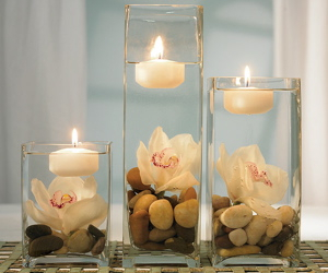 candle, flowers, and decoration image