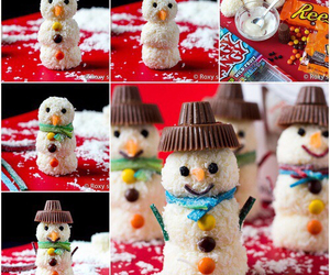 recipe, snowman, and chocolate image