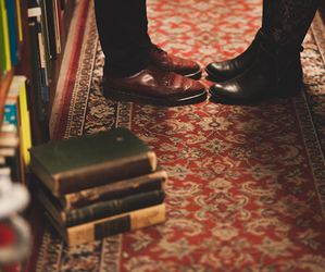 book, shoes, and love image