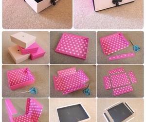 diy, pink, and box image