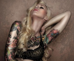beautiful, sexy, and inked image