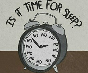 sleep, no, and time image